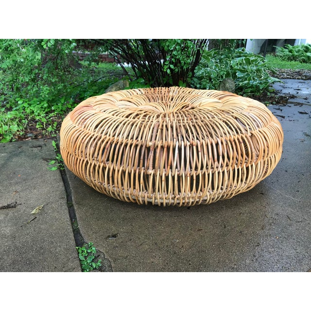 Sand Franco Albini Low Ottoman For Sale - Image 8 of 8
