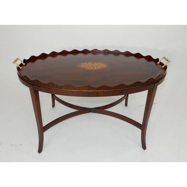 Kittinger Inlaid Mahogany Serving Table For Sale - Image 11 of 13