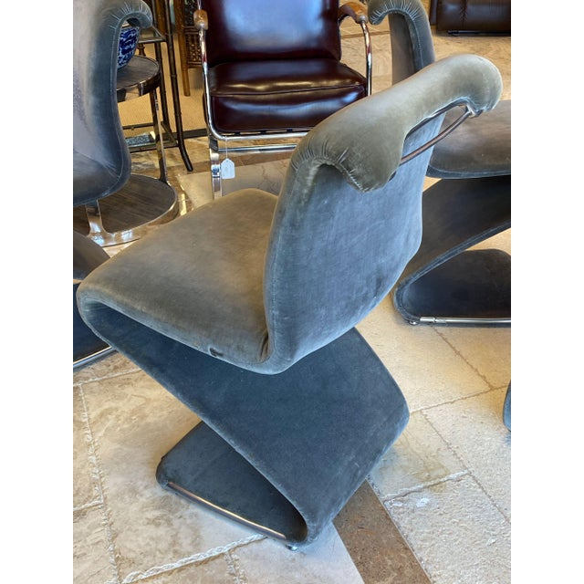 Gray Linea Rima Z Chairs - Set of 4 For Sale - Image 8 of 13