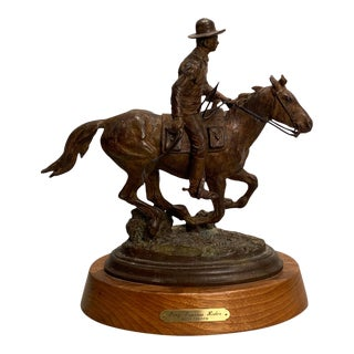 Pony Express Rider Sculpture by Keith Christie For Sale