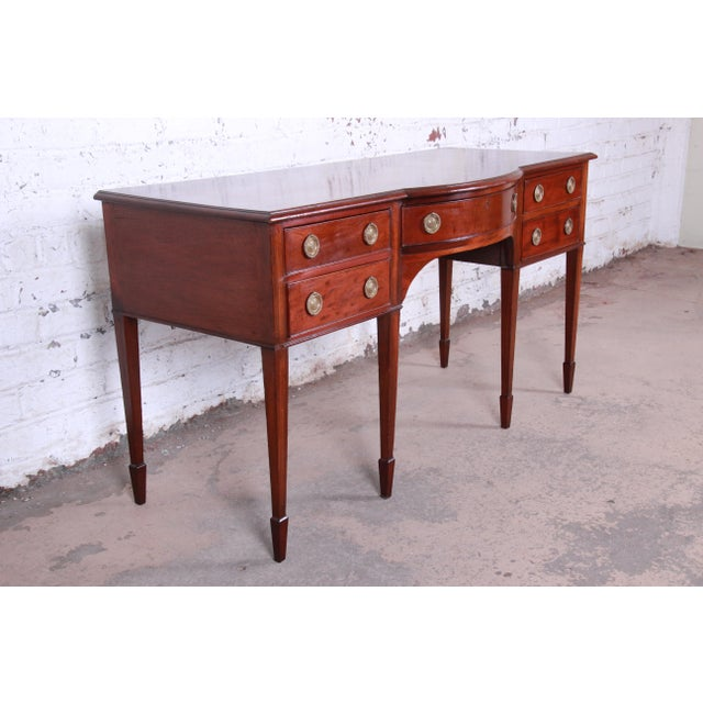 Antique English Hepplewhite Style Mahogany Sideboard Buffet For Sale - Image 4 of 13