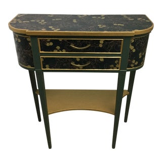 Charming Hekman Sidetable Refinished With Handmade Paper