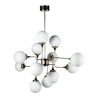 Stilnovo Chandelier Serie S5050 - 1959 Sospensione 8 Luci / 12 Luci For Sale