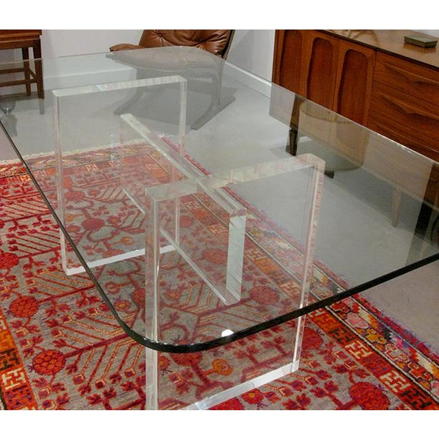 1970's Lucite Executive Desk / Dining Table For Sale - Image 12 of 13
