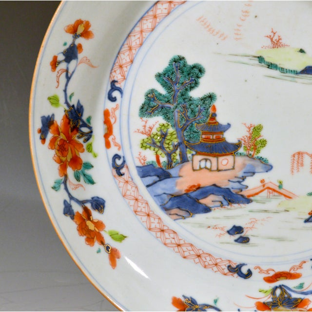 Chinese Export Porcelain Imari and Verte Saucer Dish For Sale In Philadelphia - Image 6 of 12