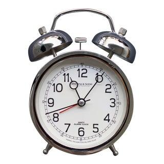 Sterling & Noble Clock Company Silver Alarm Clock