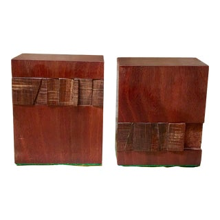 Mid Century Modern Teak Bookends - a Pair For Sale