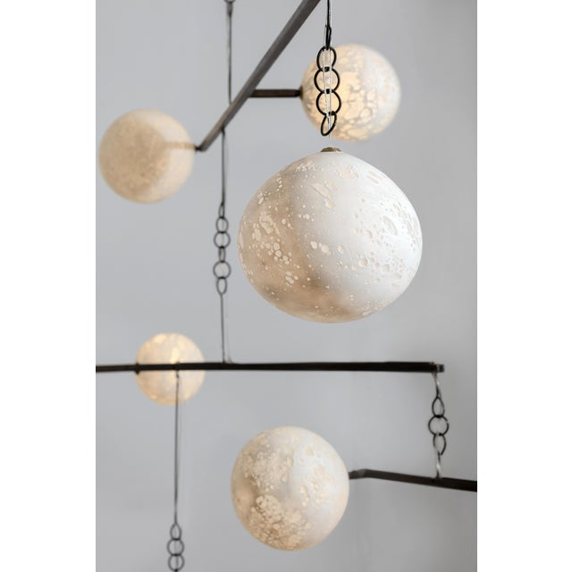 Contemporary Ludovic Clément d'armont Blown Glass and Metal Light For Sale - Image 3 of 5