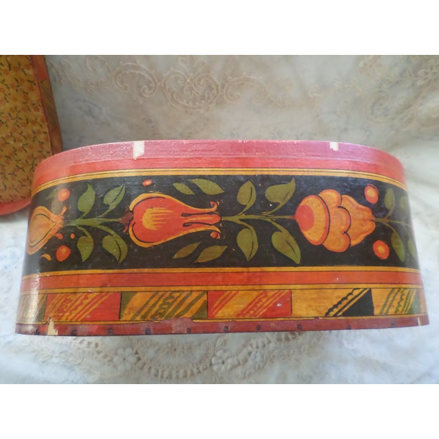 Antique Tony Sarg Nantucket Hand Painted Wooden Bride Box For Sale - Image 10 of 12