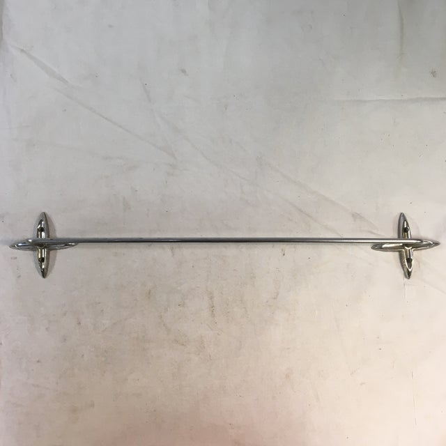 Atomic Starburst Mid-Century Chrome-Plated Towel Bar For Sale - Image 11 of 11