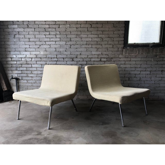 Mid-Century Modern 1990s Roche Bobois Chrome Lounge Chairs - a Pair For Sale - Image 3 of 13