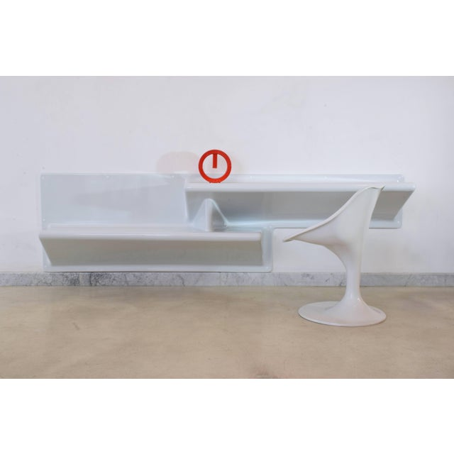 20th Century Vintage Fiberglass Hanging Console or Desk by Knoll, 1970s For Sale - Image 11 of 13