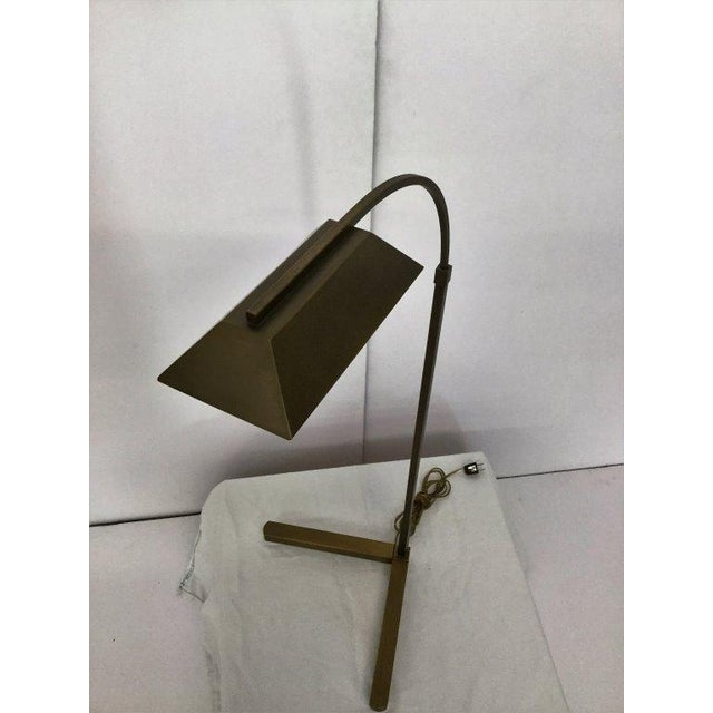 Modern Satin Bronze Pharmacy Lamp by Casella - Image 3 of 5