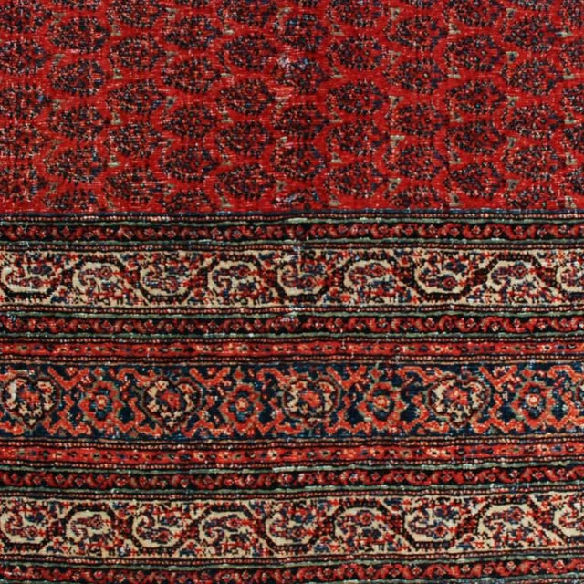 "Antique Seraband Carpet - 6' x 13'2"" For Sale - Image 4 of 5"