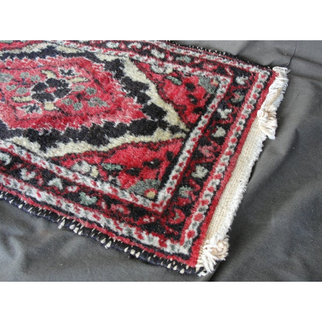 Vintage Wool Hand Tied Prayer Rug - 1′3″ × 2′2″ - Image 3 of 5