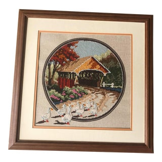 Hand Stitch Embroidery Thread in Picture Framed