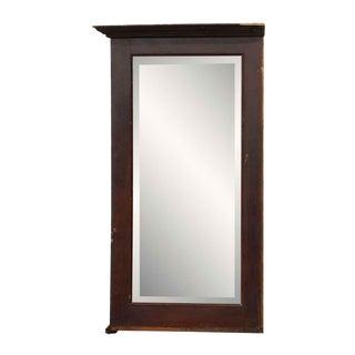 Mahogany Framed Beveled Mirror For Sale