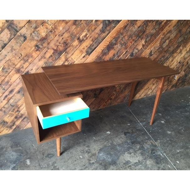 Mid-Century Style Walnut Desk - Image 8 of 8