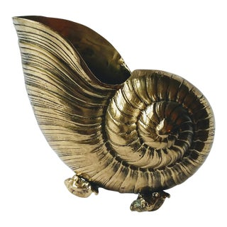 1940's Nautilus Shell Wine Cooler/Bottle Holder/Cachepot For Sale