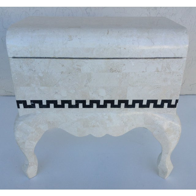 Maitland Smith Tessellated Footed Standing Chest For Sale In West Palm - Image 6 of 11