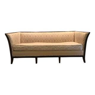 Vintage Tuxedo Sofa With Mahagony Frame