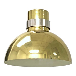 Brass Plated Dome Ceiling Pendant Light Lamp Feldman Co. Mid Century Modern For Sale