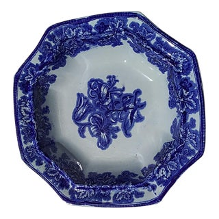 Phillips Lobelia Ironstone Bowl For Sale