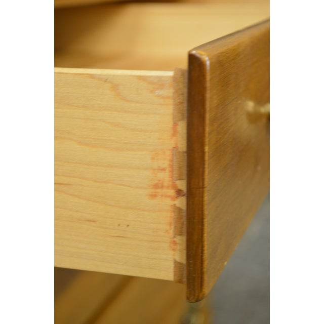Birch Ethan Allen Custom Room Plan Maple Hutch Top Chest of Drawers For Sale - Image 7 of 11