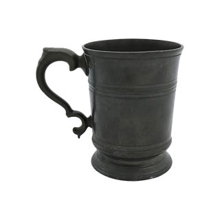 Antique English Pewter Tankard - C. 1868 For Sale