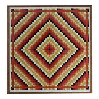 1960s Vintage Margot Johnson MCM Mosaic Print For Sale