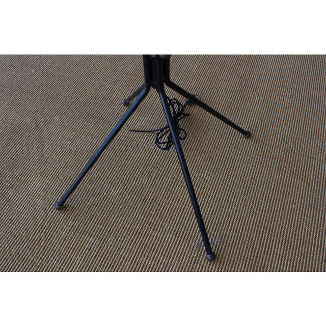 Brass Floor Lamp on Metal Tripod Legs, Italy, 1960s For Sale - Image 4 of 9