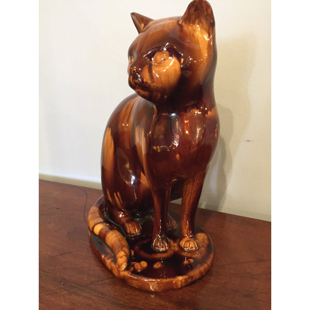 English Treacleware Cat Figure For Sale - Image 4 of 10