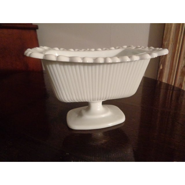 1960s Mid-Century Modern White Milk Glass Soap Dish For Sale - Image 6 of 6