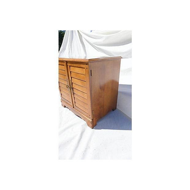 1970s Vintage Maple File Cabinet For Sale - Image 5 of 8