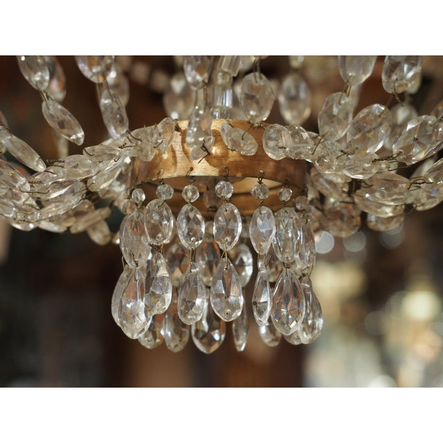 White 19th Century French Crystal Chandelier For Sale - Image 8 of 11