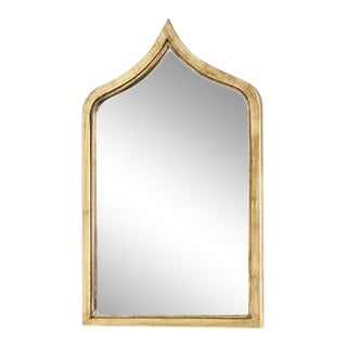 Worlds Away Zanzibar Gold Leafed Mirror For Sale