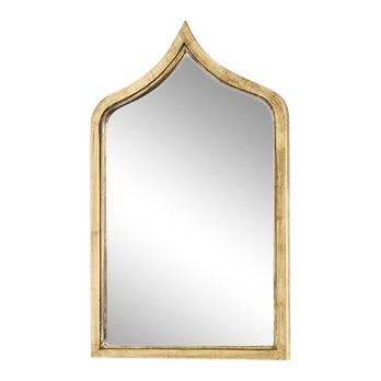 Worlds Away Zanzibar Gold Leafed Mirror For Sale