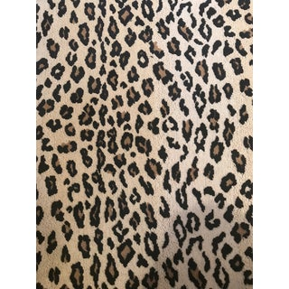 Schumacher Safari Epingle Leopard Fabric - 2 1/2 Yards For Sale