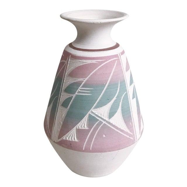 Southwestern Etched Pottery Vase For Sale