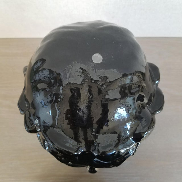 Glass Ingrid Glass Camoes Bust Sculpture For Sale - Image 7 of 10