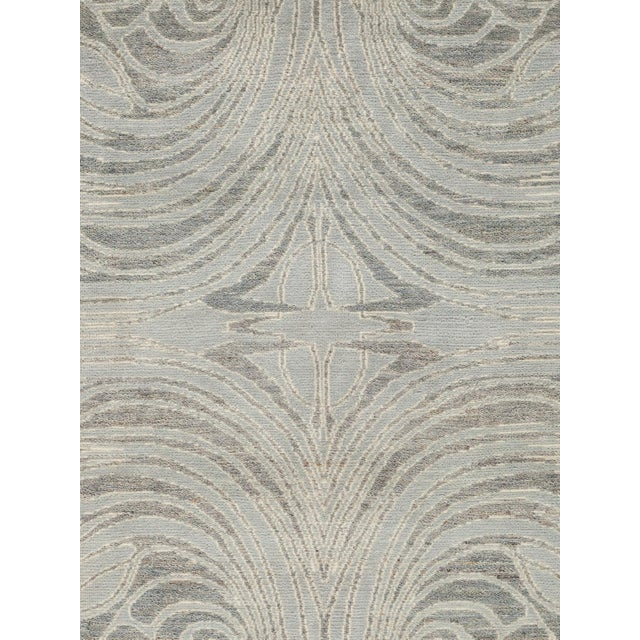 """New Contemporary Hand Knotted Area Rug - 8' x 10'3"""" - Image 3 of 3"""
