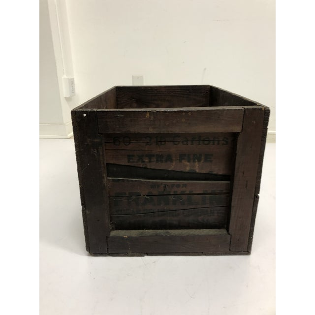 1960s Vintage Industrial Wood Shipping Crate Box - Benjamin Franklin Sugar For Sale - Image 5 of 11