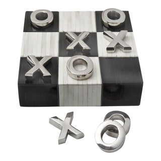 Tic Tac Toe Flat Board With Nickel Pieces For Sale