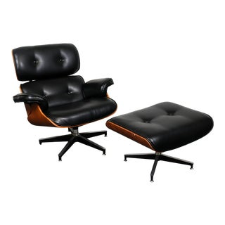 Eames Style Lounge Chair & Ottoman For Sale