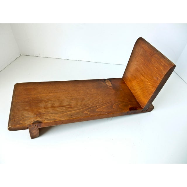 Rustic Small Wooden Tabletop Bookshelf For Sale