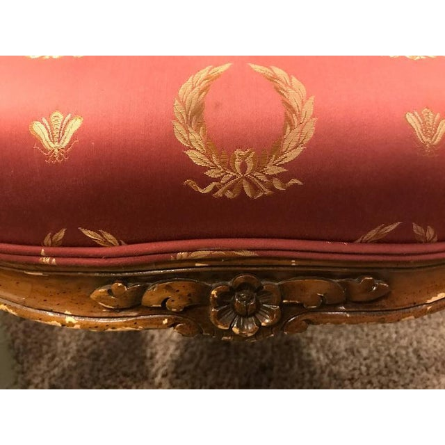 Louis XV Open Arm Louis XV Style Feuteuil Chairs - a Pair For Sale - Image 3 of 9