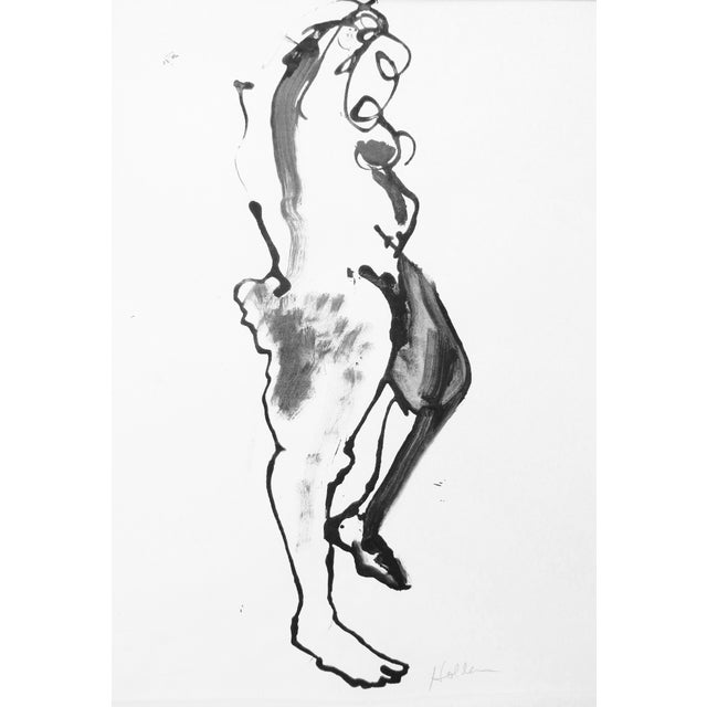 Martha Holden Nude Ink Drawing - Image 3 of 5