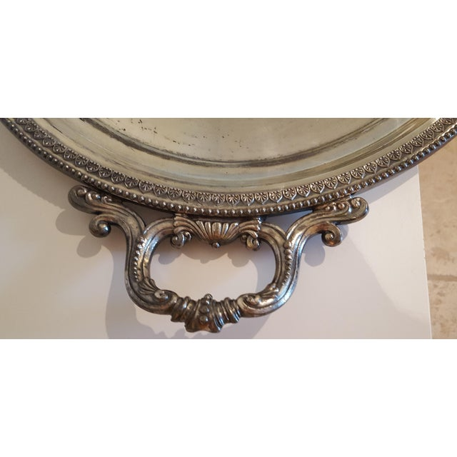 1867 Silver Plated Serving Tray With Engraving - Image 4 of 8
