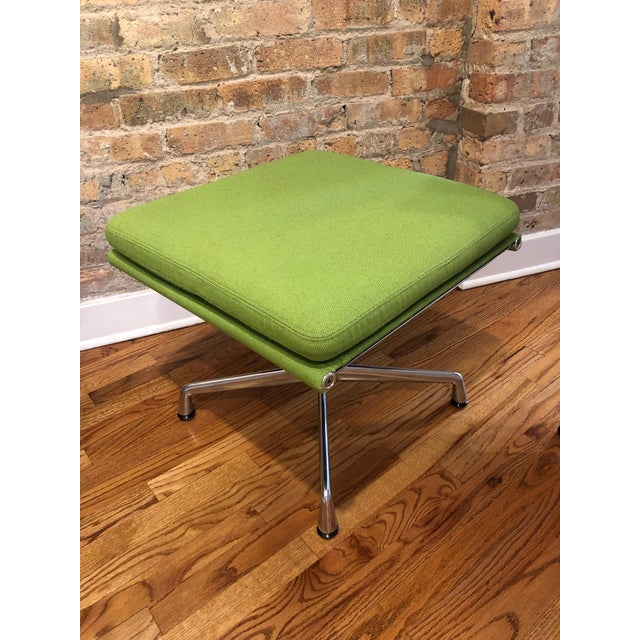 Herman Miller Eames Neon Green Pad Lounge Chairs With Ottoman - a Pair For Sale In Chicago - Image 6 of 8