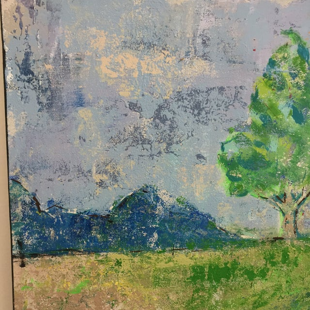 Blue Katherine Musser Berry Tree in Landscape Original Acrylic on Canvas Painting For Sale - Image 8 of 9